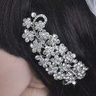 Bridal Crystal Rhinestone Headpiece Flower Hair tiara Comb RB628