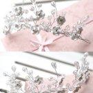 Bridal Rhinestone Crystal adjustable Flower Headdress Headpiece Hair tiara HR214