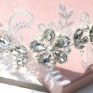 Bridal Rhinestone Adjustable forehead band Faux pearl lace Hair tiara HR212