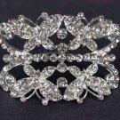 Bridal Crystal Butterfly headpiece Headdress Rhinestone Hair tiara Comb RB571