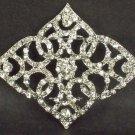 Bridal vintage style crystal sew rhombus Rhinestone brooch pin PI585