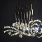 Bridal crystal Rhinestone flower Hair Headdress tiara Comb RB608
