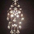 Bridal Crystal Chandelier dangle Rhinestone Brooch pin PI149