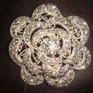Bridal Vintage Style Bling Flower Rhinestone Brooch pin PI368