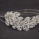 Bridal Rhinestone Leaf headpiece AB crystal Hair tiara Comb HR171
