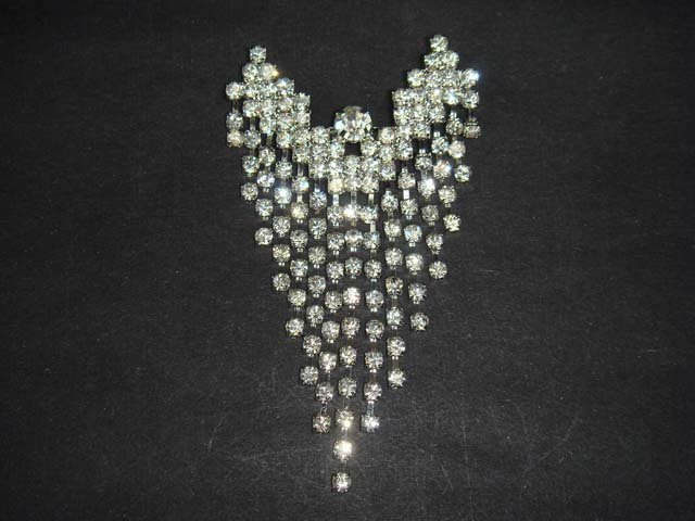 Bridal Dress Chandelier crystal dangle Rhinestone Brooch pin PI491