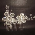 Bridal Rhinestone Flower Crystal headdress Hair tiara Comb RB405