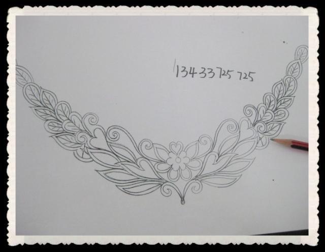 Gothic Lolita Lace Crochet Bead Flower dangle Black White Choker necklace NR373