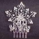Bridal Rhinestone Headdress Headpiece crystal Hair Tiara Comb RB548