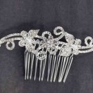 Bridal Rhinestone Crystal Butterfly Headpiece headdress Hair tiara Comb RB593