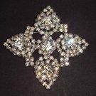 Bridal rhombus crystal Rhinestone Brooch pin PI466