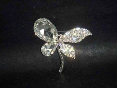Bridal dress scarf cake decoration Butterfly Rhinestone Brooch pin PI526