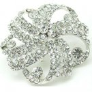 Bridal Cake Dress decoration Faether crystal Rhinestone Brooch pin PI592