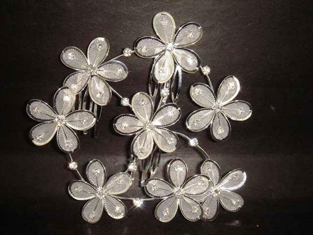 Bridal Rhinestone AB Crystal flower Hair tiara Comb RB180
