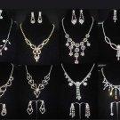 Bridal Rhinestone crystal dangle bling necklace earrring set NR358