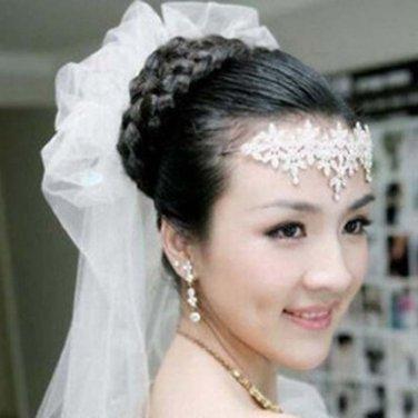 Bridal Rhinestone crystal headpiece flower forehead band Tiara crown HR235