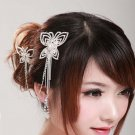 Bridal Faux pearl Crystal Rhinestone Headpiece butterfly Hair tiara Comb RB532