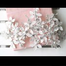 Bridal Rhinestone Adjustable forehead band Faux pearl lace Hair tiara HR236
