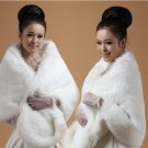 Bridal OFF white Faux Fur Shrug Shawl Cape Wrap BOLERO SF154