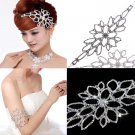 Bridal Rhinestone AB crystal forehead band Hair tiara armlet BR342
