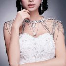 Bridal crystal Rhinestone shoulder deco Bra Strap Halter necklace HR242