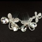 Bridal Rhinestone butterfly  Headpiece headdress Crystal Hair tiara Comb RB631
