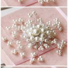 BRIDAL FAUX PEARL HEADPIECE HEADDRESS FLOWER RHINESTONE TIARA COMB RB635