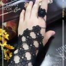Gothic Lolita Sexy Flower black Belly dance slave bracelet BR350