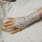 Sexy Faux pearl tatoo Lolita White Belly dance butterfly slave Bracelet BR359