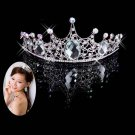 Bridal Rhinestone Crystal topknot crown Headdress Headpiece Hair tiara HR208