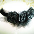 Bridal  sexy Lolita Flower ribbon Black Choker bracelet necklace set NR408