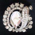 Bridal vintage style crystal  Rhinestone brooch pin PI596