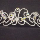 Bridal Rhinestone AB crystal Adjustable forehead band headpiece Hair Tiara HR176