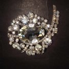 Bridal dress Vintage style Rhinestone Brooch pin PI374