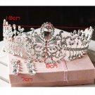 Huge Rhinestone crystal queen crown Pageant Princess Prom Tiara HR266