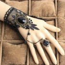 Sexy Belly dance  lace Bohemian gothic Black butterfly slave Bracelet BR377