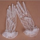 Bridal prom sexy Lace Satin white black Wrist Gloves S38