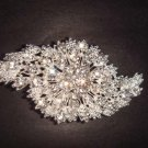 Bridal Cake topper dress Czech Rhinestone Crystal Brooch pin PI234