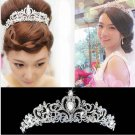 Bridal rhinestone crystal elegant Victorian forehead band Hair Tiara Crown HR252