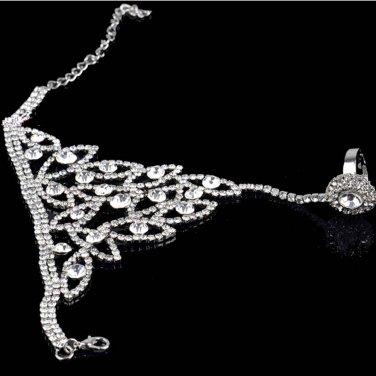 Sexy Belly dance Rhinestone crystal gothic slave Bracelet BR390