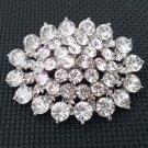 Bridal ellipse oval crystal scarf deco Czech Rhinestone Brooch pin PI603