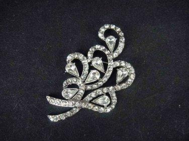 Bridal Vintage style bling Czech crystal Rhinestone Brooch pin PI428