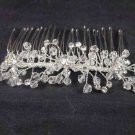 Bridal Rhinestone Crystal Flower Headpiece headdress Hair tiara Comb RB544