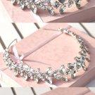 Bridal dance Rhinestone applique ribbon headband Princess Prom Tiara HR270