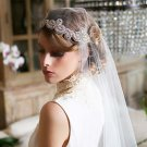 Bridal Rhinestone trim sash applique ribbon headband Princess Prom Tiara HR311