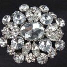 Bridal dress Vintage style Czech Rhinestone Brooch pin Pi331