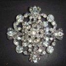 Bridal Vintage style crystal cake dress topper Czech Rhinestone Brooch pin Pi168