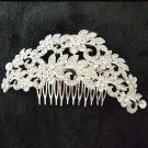 Bridal dance Rhinestone Flower headpiece Princess Prom Tiara comb RB653