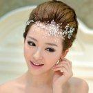 Bridal Clear Rhinestone headpiece Adjustable forehead band Tiara HR269R