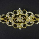 Bridal Crystal rhombus Vintage style Czech Rhinestone Brooch pin Pi180